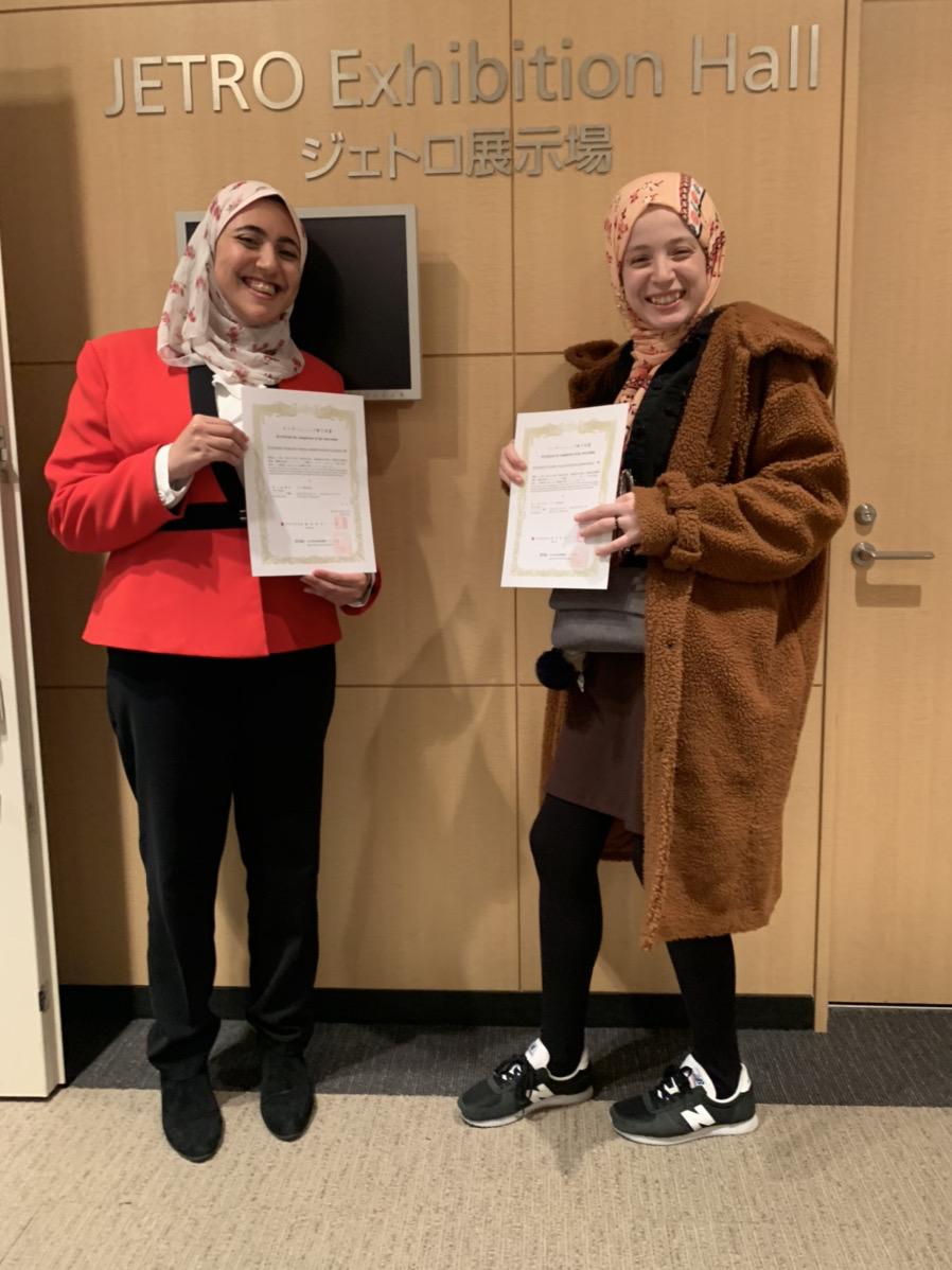 修了証書授与Hadil Mariam.JPG